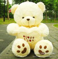 Hot 50CM Giant Huge Big Soft Plush White Teddy Bear Halloween Christmas Gift Valentine's Day Gifts