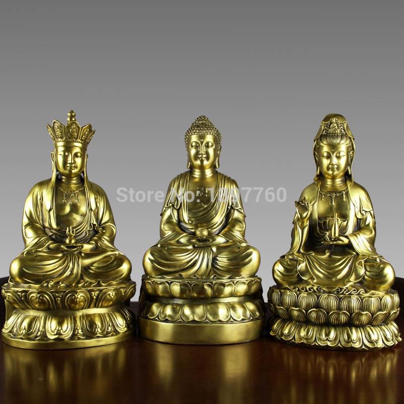Large copper buddha decoration manichaeist trinity ksitigarbha bodhisattva bronze Statue(China (Mainland))