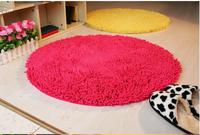 D-600mm Chenille series circle living room coffee table bed rug large floor mats doormat slip-resistant