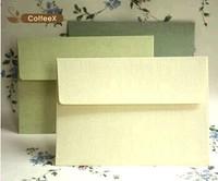 Elegant green color texture blank envelopes greeting postcards decorative storage wedding invitation paper Free Shipping