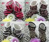 Baby Shoes leopard print Girl's Boots for 0-1 years First walkers for 0-15 mouth First walkers 1 Pair