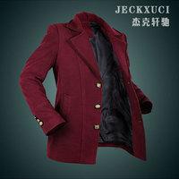 free shipping 2014 winter men's short casaco masculino woolen outwear for men fashion manteau homme desigual high quality coat