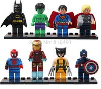SY180 Action Figures Super heros building block set iron man captain america batman hulk thor spiderman Plastic Compatible