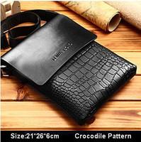 NEW Hot men bag genuine leather shoulder bag serpentine/ crocodile pattern men messenger bag high grade business briefcase bag