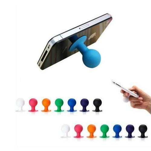 Hot Selling Cheap Colorful Rubber Octopus Sucker Ball Stand Holder For IPhone 5S Universal Stand Sucker For Samsung Mobile Phone(China (Mainland))