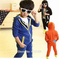 Wholesale 3 Colors 5 Sets/ Lot  kids clothes sets baby boy children's sports suit autumn Spring