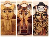 Fshion Women/men animal/skull 3d leopard print sleeveless T-Shirt 3D vest  TT03