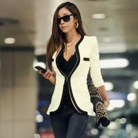 2014 New Fashion Slim Black&White Jacket Womens Sexy Blazer Casual Short Suit Ladies Coat
