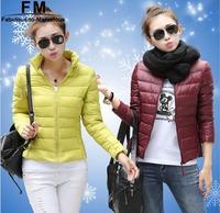 12 Candy Colors Short Down Jacket Winter Jacket Women Plus Size XXXL Casual Casaco Feminino Inverno 2014 Women Clothing AW14J010