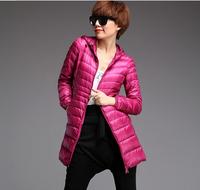 The New Female Slimming Down 2014 Winter Jacket Overcoat Warm Fashion Long Coat,Ladies Slim Zipper New Arrival Down Coat Jacket