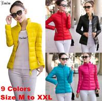 Lanluu Pre-sale Candy Color Female Winter Autumn Jacket 2014 Hot Sale Women Short Down Cotton Coats SQ861