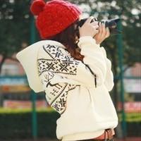 Women coat Korean tidal movement hooded sweater hedging female deer sweater and cashmere sweater loose big yards Hoodies
