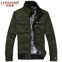 High Quality 2014 Men's Fashion Brand Clothing ,Army Design Casual Men's Zipper Jackets,Autumn Men's Slim Fit Coats