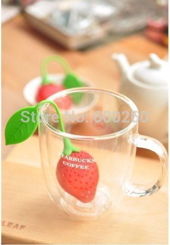 Чайное ситечко Silicone Strawberry