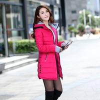 2014 Fresh color medium-long down coat female heap turtleneck winter outerwear thickening plus size slim women down jacket