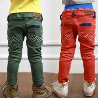 Free shipping 2014 autumn wavingness paragraph boys clothing child pencil pants casual pants long trousers kz-3161
