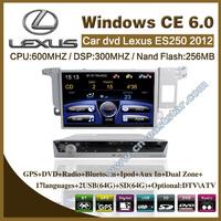 Car DVD Lexus ES250 2012 with gps navigation radio bluetooth car kit USB audio video monitor PC stereo mp3 Free shipping ES-2410