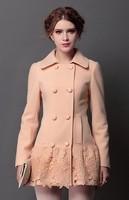 Woolen coat women 2014 new Autumn winter coat Korean version of the commuter Ms. cashmere coat woolen coat NDZ144 Y9W