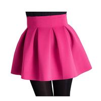 New 2014 Autumn Winter Women Skirt Plus Size Female Woolen Short Slim Hip Skirt Fashion Basic Ball Gown Skirt Fold
