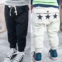 Free shipping 2014 autumn boys clothing girls clothing child fleece long trousers breeched kz-0311