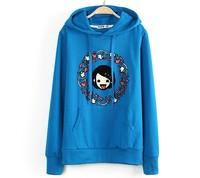 New sweaters 2014 women fashion hoody sweatshirt autumn tongue printed hoodie coat meleton masculino conjuntos feminos hot sales