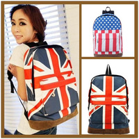 2014 American UK Flag Canvas Backpack Women Casual School Bags for Teenager Girls Mochila rucksack Women Shoulder Bags ,1881