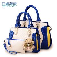 2014 Crocodile women's for fashion handbag the trend of fashion color block handbag vintage messenger bag 188
