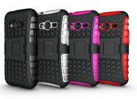 For Samsung Galaxy Ace 4 New Brand Strong Tough Heavy Duty Tradesman Spider TPU Silicone Combo Case Cover Stand  Free Ship