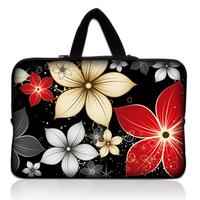 "17"" 17.3"" Flowers Soft Neoprene Laptop Netbook Sleeve Bag Case Pouch+ Hide Handle For HP DELL APPLE Acer"