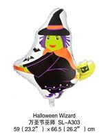 2014 new 100% high quality 50pcs Halloween witches Cartoon Decoration theme foil balloon Halloween party balloon