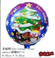 2014 new 100% high quality 30pcs Santa Claus Christmas tree Cartoon Decoration foil balloon Christmas Theme party balloons