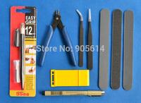 Gundam Modeler Basic Tools Craft Set For Car Model Building Kit NEW