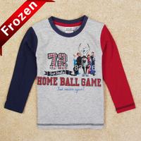2014 new Frozen Olaf boys t shirt,long sleeve cotton frozen snowman boys t-shirt,frozen children clothes baby kids tops tees