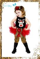 wholesale 5set/lot gril's clothes vest top skirt pants 3pcs set baby clothes christmas kids set