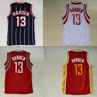 Free Shipping Houston 13 James Harden Jersey, Cheap Basketball Jersey James Harden REV 30, Vintage Throwback Embroidery Logos