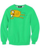 New 2014 Autumn Fashion Adventure Time Cartoon digital Print Sweatshirts Pullovers Men Women Casual Lovers wear Dropship S-G22