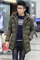 2014 New High Quality Brand Jacket Men Winter Jacket Men Winter Coat  Long Thicken Outwear Hooded Men's Down Parka