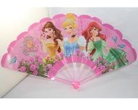 """Cute Beautiful Princesses Cartoon Plastic Portable Long Folding Hand Fan (L:9"""",W:17"""")"""