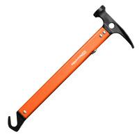 Outdoor Multifunctional Aluminium Alloy Hammer Camping Nail Hammer Sappers Shovel Carbon Steel Polishing Hammerhead Hook 347G