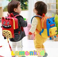 Free shipping One Set Monster Kid keeper Safety Harness  Kindergarten backpack school bag toddler Anti lost Walking Bag