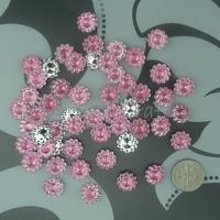 Free Shipping 1000 Pink 11mm Sunflower Rhinestone Plastic Bead Craft Baby shower Scrapbooking