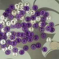 Free Shipping 1000 Dark Purple 11mm Sunflower Rhinestone Plastic Bead Craft  Wedding Favor Scrapbooking