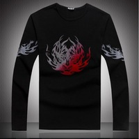 Hot,2014 fashion new cotton t-shirts for men casual mens warm t shirts Personalized printing tees(LT0115)