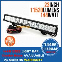 "23"" 144W Cree Led Work Light Bar Combo Beam 48pcs*3W High Intensity Cree 11520lm Cree LED Working Light Bar"