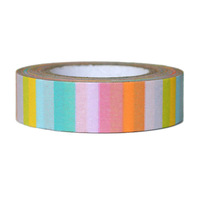 1.5cm 15m colorful stripes decoration packing tape paper decoration sticker