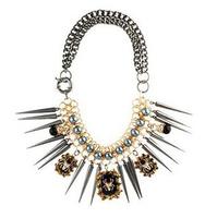 Luxury Punk Spike Spider Ethnic Tassels Chains Choker Collar Statement Necklaces & Pendants Fashion Jewelry Women Wholesale N87