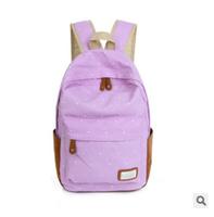 Polka Dot women canvas Backpack 4 Colors Female vintage travel/school bags  for teenagers floral galaxy bolsas sport  rucksack