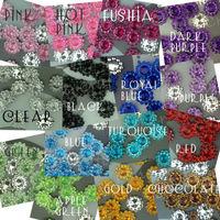 Free Shipping 1000  Acrylic 11mm Sunflower Rhinestone Bead Craft  Accessories DIY Scrapbooking Favor U Pick 15 Color