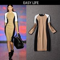 2014 New Arrive Runway Women`s top quality Autumn Dress ,Brand Dress