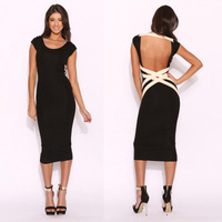 Night clubs in Europe America women's fitted halter strap dress sexy package hip Slim suits women dress  RS-150